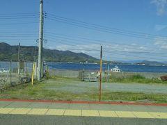 てんのう駅は海のすぐ近くにありました。