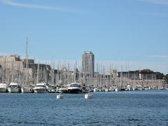 マルセイユ観光2日目ー2  マルセイユの旧港沿いを巡ります。 おしゃれで綺麗な港です。