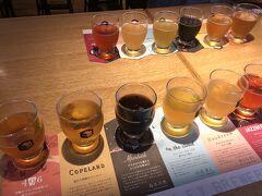 6種のクラフトビールの飲み比べはマスト