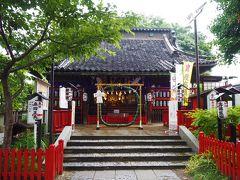 【鴻神社】 こちらの神社に茅の輪が設置されてたので、8の字にくぐってお詣り