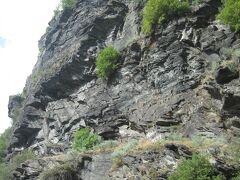 またまた車の中より ローレライの岩を下から間近に見ながら通り過ぎ・・