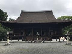 三井寺へ。超大きいお寺です。国宝の金堂は立派ですねえ。