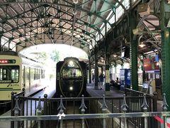 帰りは「ひえい」に乗るために時間を見計らって駅へ行きました。  少し早めについて、「ひえい」が入線してくる光景も写真に収めたかったので。