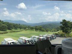 さて、ゴルフ1ラウンド目。 青葉旅館から近い、パーシモンカントリークラブへ
