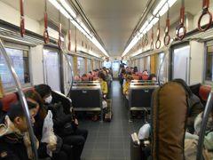 京阪本線、鴨東線淀屋橋ー出町柳間を走行する特急の車内です。