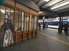 京阪本線、宇治線中書島駅構内にある坂本龍馬のパネルです。中書島は坂本龍馬ゆかりの地です。