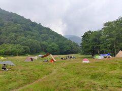 こちらスキー場を利用したキャンプ場