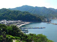 この日も快晴でした、清々しい朝です。 萩湾が綺麗に見渡せます。