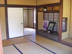 木戸孝允が江戸に上京するまで暮らしたとされる旧宅にやってきました。 ここは一般公開されており、屋内を見学出来ました。