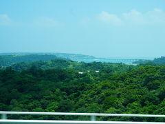 ワルミ大橋を渡って 古宇利大橋が遠くに見えます。