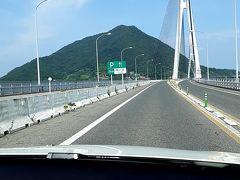 大三島もそのままスルーして、、、  次は大三島と生口島を結ぶ斜張橋形式の「多々羅大橋」です。  橋梁工学を専攻してた私としては、この斜張橋が一番好きな橋梁形式です