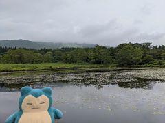 食べ終わったら散策に出かけます。 まずは妙高の代表的な名所となるいもり池へGo! その名の通り昔はイモリがたくさんいたそうですが、