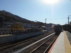 信楽高原鉄道信楽線信楽駅ホームにはたぬきがたくさんいます。