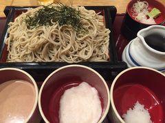 お蕎麦を食べに行きました   ゴマだれ とろろ 大根おろし(o^^o)  全部美味しかったけど ゴマだれが一番好きでした^ ^