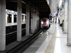 新幹線上野駅下りホームです。はやぶさ・こまちの進入です。
