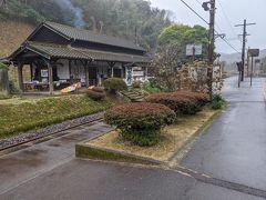 人吉を出発してしばらくすると大畑駅にやって来ました。大畑駅はループ線とスイッチバックの両方を取り入れたことで有名な駅です。
