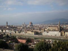 ミケランジェロ広場Piazzale Michelangeloからのフィレンツェ全景。 お決まりの絵ではありますが何度見ても素晴らしい。