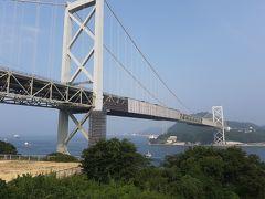 帰り道壇ノ浦パーキングで休憩 関門大橋を眺める