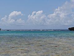 シギラビーチの海岸から撮った風景