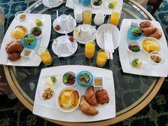 2020年8月14日 「おはようございます」コロナ禍になってから、ルームサービスの朝食が取れるようになりました。