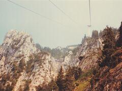 テーゲルベルク山のロープウェイ。