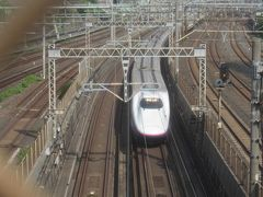 ちょうど新幹線が来ました