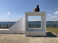 大島桟橋ポケットパークにある「イーストハウス」インスタ映えスポットですね
