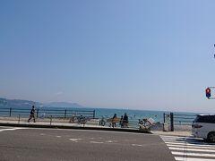 13:00 海岸沿いの道路(国道134号線)、鎌倉海浜公園 坂ノ下地区