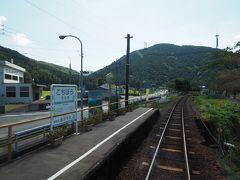 この鮎料理屋さんのすぐ近くが木知原駅。