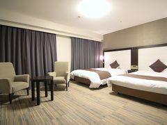 宿泊はダイワロイネット大分 ビジネスホテルですが、お部屋が広々としていて嬉しい(^^)