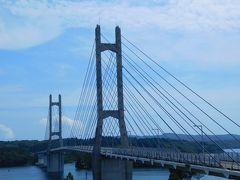 ツインブリッジのとといいう橋を渡り、能登中島へ。