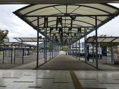 ジーンズの街らしい児島駅です。