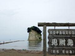 17:30 見附島(別名 軍艦島)