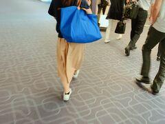 羽田空港到着。 このロンシャンのボストンバッグいいなと隠し撮り。 サイズも色もよい