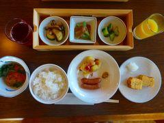 そんな波乱の一日の幕開けを感じさせないホテルの朝食。  朝の6時前から温泉にてまったりしているので食欲旺盛です(笑)  毎朝1汁6菜の丁寧な造りです。  で、その後どこに向かったかというとーー。