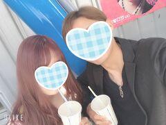 富士急にて。 髪色がラベンダー(´∩ω∩`)