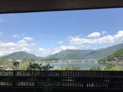 天気がいいと素晴らしい眺めだねえ!!