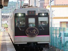 初めて乗る飯坂電車です。 なんかカワイイ! これって元は東急かな?