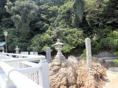 竹島に到着です  島全体が国の天然記念物に指定されているそうです。  パワースポットとしても有名で、島の5つの神社すべてをお参りすると、一生の幸いが得られるかも!ということなので、行ってみよう!