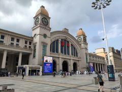 武漢の玄関口「漢口駅」。人通りはコロナ前とほぼ変わらず。