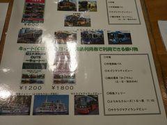 ホテルは天文館にありますが 2日間利用できるキュートを買いに 鹿児島中央駅にきました~。  この乗車券は非常に便利でした~。