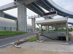 ●大阪メトロ 門真南駅  初めての門真南駅。 地上に出ると、第二京阪が真上を走っていました。