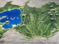 十和田湖と周辺のジオラマ
