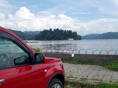 15:00 いつもの寄り道 「野尻湖」  3時間走ってもまだ長野県 海っぽいし、ここでいいじゃん?と毎回思う地点