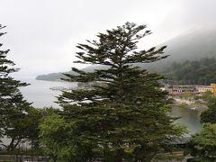 中禅寺湖ビュー! 雨が残念。