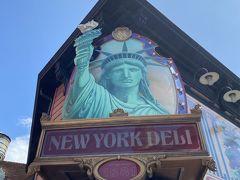 アメリカンウォーターフロントに来たらトイストーリーマニアに乗りますが、その前に夫が「ビールを飲ませてくれ~」と言うので、ニューヨークデリにてビールのみ購入