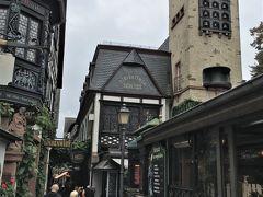 <ドロッセルガッセ(つぐみ横丁)>  今回、昼食で考えていたレストランが なんと5年前入ったドロッセルホフの隣(写真奥)でした。