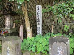 お寺の奥まった所にひっそりと有りました。周りには家来だった武士のお墓もあります。