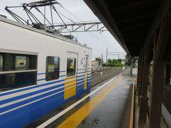 8:14 三国港駅到着
