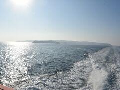 太平洋側では珍しい海に沈む夕日。